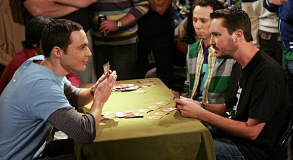 Sheldon and Wil in a battle of wits and magic
