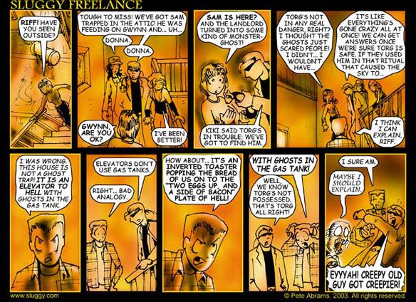 the webcomic overlook 175 sluggy freelance part 1 the webcomic